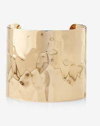 Express | Metallic Textured Metal Cuff | Lyst