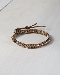 Express - Metallic Chan Luu Mixed Bead Single Wrap Bracelet - Lyst