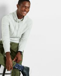 Express - Multicolor Ribbed Funnel Neck Sweater for Men - Lyst