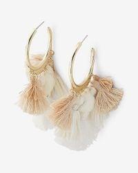Express - Multicolor Tassel Chandelier Drop Earrings - Lyst