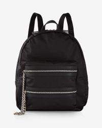 Express | Black Nylon Chain Pocket Backpack | Lyst
