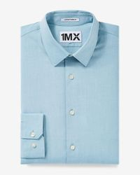 Express | Blue Slim Fit Iridescent 1mx Shirt for Men | Lyst