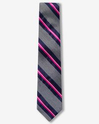 Express | Pink Diagonal Stripe Narrow Silk Tie for Men | Lyst