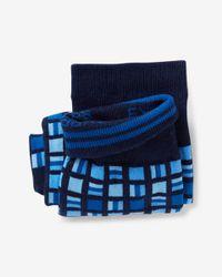 Express - Blue Geo Square Print Dress Socks for Men - Lyst