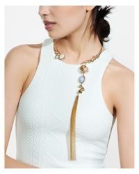 Express - Metallic Capwell Encore Necklace - Lyst