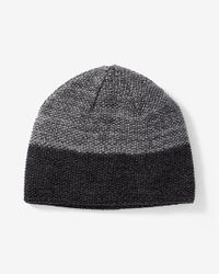 Express - Gray Marled Textured Beanie for Men - Lyst