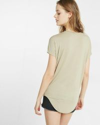 Express - Brown One Eleven V-neck London Tee - Lyst