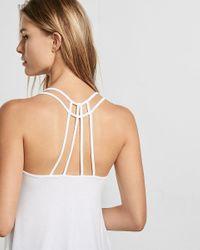 Express | White One Eleven Strappy Back V-neck Cami | Lyst