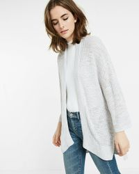 Express | Gray Marled Kimono Sleeve Cover-up | Lyst