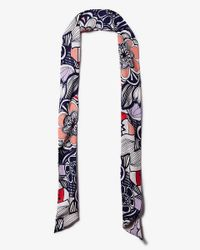 Express - Multicolor Geo Floral Skinny Scarf - Lyst