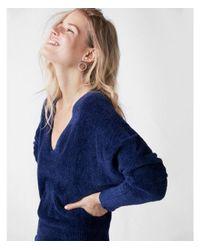 Express - Blue Cozy Dolman Sheath Dress - Lyst
