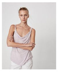Express - Purple One Eleven Reversible Cowl Neck Tank - Lyst