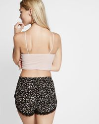 Express - Multicolor One Eleven Lined Cropped Brami - Lyst