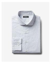Express - Gray Big & Tall Slim Small Floral Dress Shirt for Men - Lyst