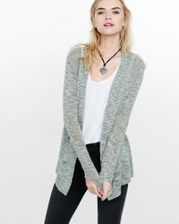 Express | Gray Lightweight Marled Rolled Sleeve Cover-up | Lyst