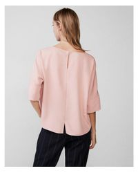 Express - Pink Silky Cocoon Blouse - Lyst