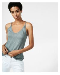 Express | Gray Double V Cami | Lyst