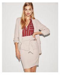 Express - Pink High Waisted Paperbag Pencil Skirt - Lyst