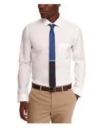 Express - White Fitted Non-iron Shirt for Men - Lyst