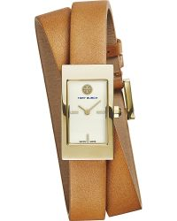 Tory Burch - Brown Trb2007 The Buddy Signature Double-wrapped Watch - Lyst