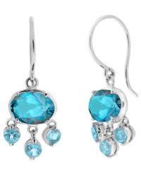 Dinny Hall - Blue White Gold Bali Topaz Drop Earrings - Lyst