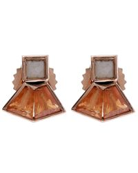 Nak Armstrong | Orange Mosaic Gemstone Stud Earrings | Lyst