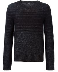 Dondup - Gray Striped Sweater for Men - Lyst