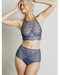 Free People | Blue X For Love And Lemons Womens Daisy Panel Hi Rise Undie | Lyst
