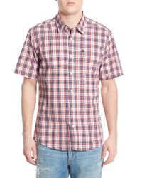 Quiksilver | Blue 'everyday Check' Regular Fit Woven Shirt for Men | Lyst