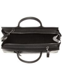 Saint Laurent - Black Cabas Rive Gauche Medium Leather Tote - Lyst