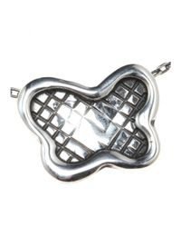 Bottega Veneta - Gray Sterling Silver Necklace - Lyst