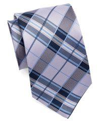 Burma Bibas | Purple Silk Plaid Tie for Men | Lyst