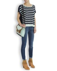 Duffy - Multicolor Navy And White Striped Fine Knit Cashmere Top - Lyst