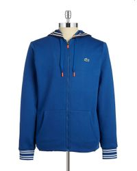 Lacoste | Blue Zip Front Hoodie for Men | Lyst