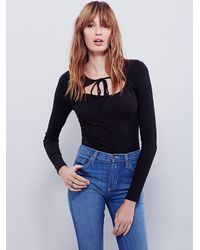 Free People - Black Womens Wrapped Around Your Finger Top - Lyst