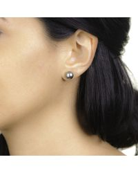 Black.co.uk | Titania Tahitian Black Pearl Ear Studs | Lyst