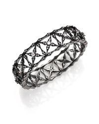 Adriana Orsini | Metallic Kaleidoscope Pavé Bangle Bracelet/gunmetal-tone | Lyst