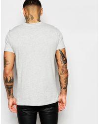 DIESEL - Black T-shirt T-diego-fn Crewneck Large D Slash Print In Grey Marl for Men - Lyst