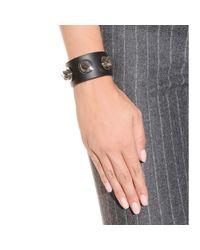 Givenchy | Black Studded Leather Bracelet | Lyst