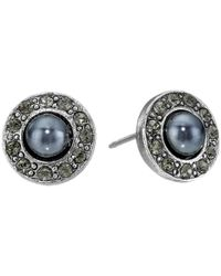 Oscar de la Renta | Black Pearl P Stud Earrings | Lyst