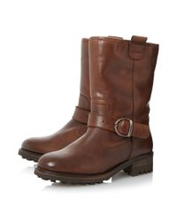 Dune - Brown Roller Fur Lined Buckle Calf Boots - Lyst