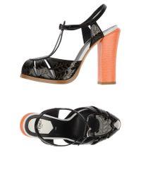 Fendi - Black Sandals - Lyst