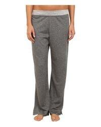 Carole Hochman - Gray Double Faced Jersey Long Pants - Lyst