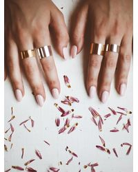 Free People | Metallic Phyllis + Rosie Jewelry Womens Short Cigar Band Ring | Lyst