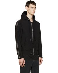 DIESEL - Black Zipper S-zeus Hoodie for Men - Lyst