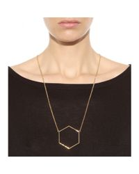 Marc By Marc Jacobs - Metallic Hexagon Pendant Necklace - Lyst