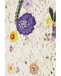 Emilio Pucci - White Crochet Poncho - Lyst