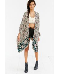 Chaser - Multicolor Printed Square-sleeve Kimono - Lyst
