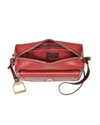 La Martina | La Portena Dark Red Saffiano Leather Shoulder Bag | Lyst