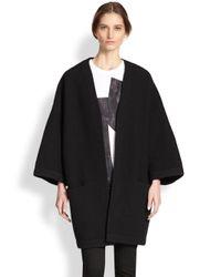 Acne Studios Black Oversized Wool Cocoon Coat